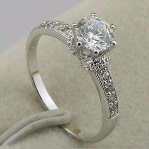 Sz 7 Cz white gold filled ring